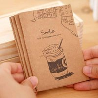 Bloc-note artisanal France-Vente en gros - 1pcs Mini Note Book Cartoon Cute Notebook Notepad Mémos quotidiens Note Craft Paper Vintage School Supplies Papeterie