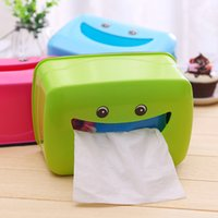 Wholesale Novelty useful plastic Tissue boxes cartoon lovely smile for living room kitchen bathroom