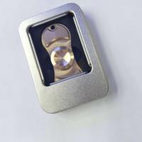 bearings ceramic - 2017 Pure Brass Copper Fidget Spinner Hand Spinners Torqbar Style Ceramic Bearing Crazy EDC Finger Tip Rotation HandSpinner anxiety Toys Fre