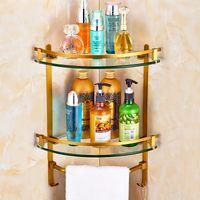 antique brass shelf - Ou all copper bathroom shelf triangular antique tripod hanging shelf toilet towel bar multi functional bathroom pendant