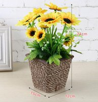 Wholesale Artificial flower with pot gift Valentine s gift Christmas gift wedding gift