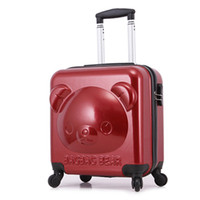 Wholesale Little Bear luggage trolley bag cheap wheels suitcase
