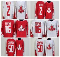 Cheap 2016 World Cup Team Olympic Hockey Canada WCH Jerseys #2 Duncan Keith #16 Jonathan Toews #50 Corey Crawford Red White Stitched Hockey Jersey