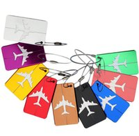 Wholesale Luggage ID Tags Boarding Travel Address ID Card Case Aircraft Plane Bag Labels Card Dog Tag Collection Keychain Key Rings