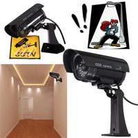 al por mayor cables de la cámara ccd-Dummy Cámara de seguridad IR con LED parpadeante y cableado realista para robo / Robo de Deterioro interior / exterior CCT_702