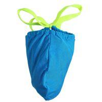 achat en gros de mens mini-g cordes-Tongs Hommes et string G Swimwear Funny Thong Maillot de bain Pénis Gaine Tronc de bain Micro Bikini Mini Thong Cock Erotic Sock Bag 2016