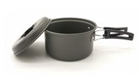anodized aluminum cookware - 1 people Aluminium Hard Anodized Outdoor Camping Pot Big Size