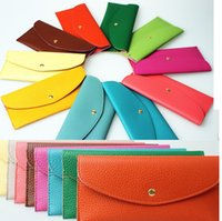 Wholesale 2017 Flip PU leater retro long style women wallets ultrathin candy color girls more card purse bags handbag wallet children easter gifts
