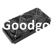 Wholesale Freeshipping Aluminum mm Water Cooling cooled Row Heat Exchanger Radiator Fan for CPU PC