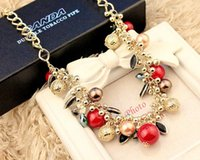 bead chain necklaces designs - multi layer color beads short clavicular necklace wild exaggerated female temperament jewelry design fashion quality assurance The