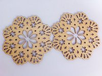 Wholesale New Arrival Flat Wooden Board Snowflake Shape Carved cm Wooden Tag Christmas Decoration mm Thickness Big Size