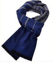 Wholesale Scarves Men Professional - 2016 Korean winter new men's Shanghai business man brushed fashion scarf Plaid and having Professional breath Scarf