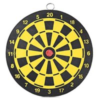 Wholesale 2016 New inches Diameter Dartboard Two sided Dart Board with Magnetic Darts Safety Game Toy Entertainment Accessories