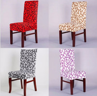 Wholesale Elegant Spandex Elastic Stretch Chair Seat Cover Computer Dining Room Wedding Kitchen Decor Your Best Choice