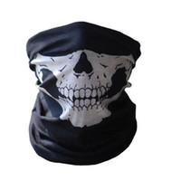 Precio de Bufanda para el frío-Venta al por mayor-Tubular cráneo fantasmas fantasma máscara bandana moto bicicleta deportiva bufanda caliente invierno frío Halloween para motocicleta