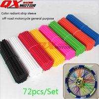 Wholesale High quality steel wire wheel off road motorcycle motorcycle spokes spokes all color casing casing color plastic sleeve