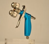 Wholesale Tow component Chrome spray gun with high quality and best price for Silver mirror and nano painting free DHL shipping