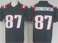 Wholesale Men s Adult embroidery Julian Tom Rob Brady Adult Edelman Gronkowski Navy Color Rush Limited Fast