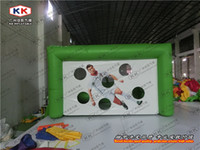 Wholesale inflatable soccer shoot game inflatable football goal for party rental