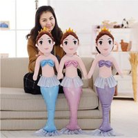 beauty stuff - Fancytrader Mermaid Plush Dolls Big Soft Stuffed Fairy Beauty Fish Toys for Girls cm Best Gifts