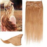 8A Black Brown Blonde Multi cheveux de couleur humaine clip dans les extensions African American Virgin crochet extensions de cheveux Clip In Bangs 100G / PACKaging