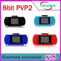 Wholesale 5pcs PVP2 PVP Game Player inch screen Games Console BIT AV output Multi Colors YX PVP2