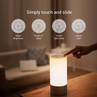venda por atacado bedside lamp-Atacado-Original Xiaomi luz do quarto de noite Yeel Lights Bedside lâmpada 16 milhões de controle de toque RGB e SmartPhone App Controller Bed Lamp