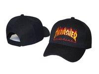 2017 Новая мода Cap THRASHER Snapback Шляпы Hip Hop Остроконечные Brand Спорт Flat Casquette Street Baseball Panel Strapback