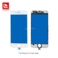 Купить Панель пресса-Передняя панель сенсорного экрана Внешняя стеклянная линза с холодным прессом Средний рамный рамный экран для iPhone 6 6s 6 плюс 6s plus