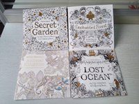Wholesale 4 BOOKS English Edition Secret Garden Animal kingdom Enchanted forest Lost Ocean Coloring Book PAGES