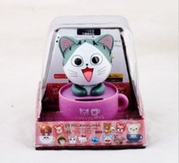 Wholesale Cute Cartoon solar furnishing articles Shaking his head doll Lovely head of cat furnishing articles kitty