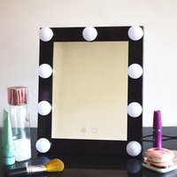 espejo de maquillaje de hollywood con colors luces led maquillaje de aluminio de la vanidad iluminado espejo de espejo de bao grande bulb