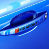 audi stick - German Audi Rs Sport exercise involving cars stick does not hurt the car stickers pet door handle stickers