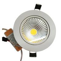 Wholesale 10pcs Dimmable LED Downlight W W W W W W V COB LED DownLights COB Spot Recessed Down light Light Bulb