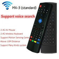 Wholesale MX3 G Remote Control Fly Air Mouse Mini Wireless Keyboard With Voice Micphone For XBMC Kodi Android TV Box Tablet Mini PC