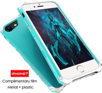 Wholesale Iphone7 phone shell apple plus metal frame i7 protection sets of new anti fall creative personality tide men and women