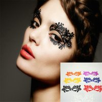 artistic cosmetics - Catwalk Show Fashion Hollow Out Lace Eye Shadow Sticker Makeup Artistic Eye Mask Christmas Party Cosmetics Eye Temporary Tattoo