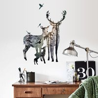 Wholesale cm Forest Elk Deer Home Decoration Living Room Decal Wall Stickers