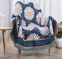 Wholesale High Quality Cotton Flowers Pattern Soft Blanket For Office And Home Nap Air condtion Used Blanket Cotton