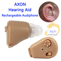 Wholesale Portable Axon K Hearing Aid Rechargeable Audiphone Adjustable Tone In ear Sound Amplifier Personal Ear Care Tools