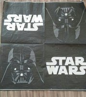 Wholesale star wars party cm kids birthday food grade printing tissue paper napkin
