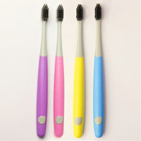Wholesale 2pcs ultra soft toothbrush travel Lover health charcoal black toothbrush bamboo dentistry soft charcoal toothbrushes brush teeth