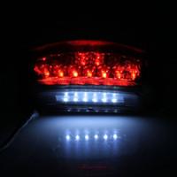 atv signal lights - IZTOSS D618BK V W LED Brake Light License Plate Lamp Taillight with Bracket Suit for Motorbike ATV SUVs Electrombile