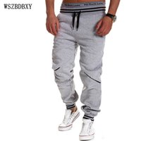 Wholesale Mens Joggers Male Brand Men Pants Hit Color Stitching Sweatpants Jogger XL TUHBNE