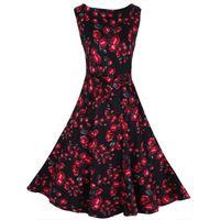 Wholesale hot sale Korean version of the vest dress Vintage floral dress retro Casual Dresses HRX07