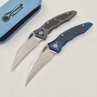 Maxace aluminum titanium carbon - Maxace Titanium Carbon Fiber Inlay Karabit Claw Model M390 Satin Tactical Bearing Camping Knife Tool