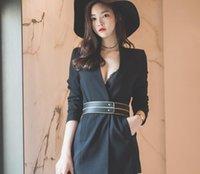Wholesale Korean version of the new V neck dark button long sleeved shirt professional temperament aristocratic jacket shawl wild