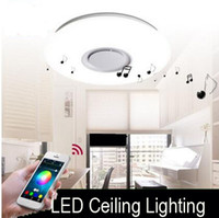 LED speaker ceiling mount - 2017New APP Control slim W Motion Sensor led Ceiling Light with bluetooth speakers high quality dimmable ceiling led livingroom lighting