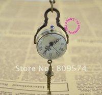 ball watch price - buyer price good quality fashion quartz nice vine new bronze glass ball pocket watch necklace with chain