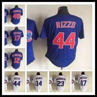 Wholesale 2017 champions patch men Chicago Cubs Kyle Schwarber Kris Bryant Anthony Rizzo Elite shirts Jake Arrieta jerseys Size M XXXL